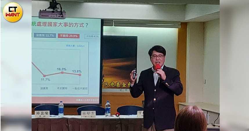 民進黨認同掉15% 游盈隆籲:對付瘟疫,唯一方法是正派