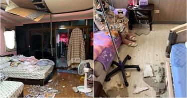 恐怖巧合!女連遇2次天花板崩塌險砸死 網驚呆:這是絕命終結站?