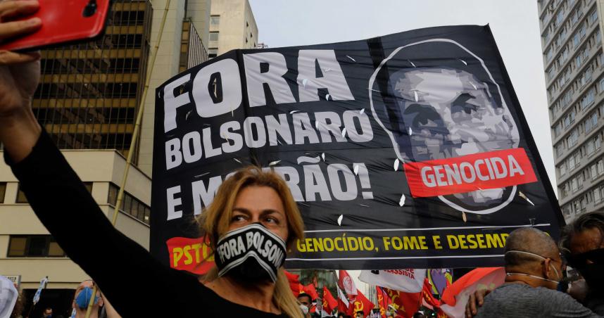 巴西總統疫情期間誇張演出引發民怨 民眾示威要求下台與警爆發衝突