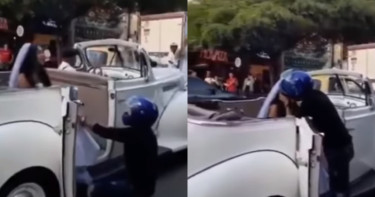 男攔禮車苦求前女友別嫁 結局竟讓網友超意外