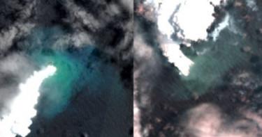 海底火山狂噴18天!東加王國一座島沉沒但得到3倍大新島