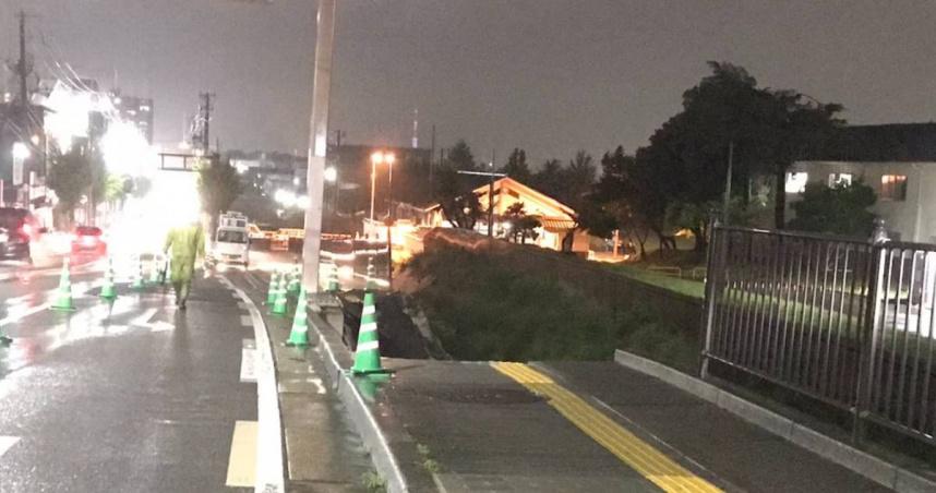 日本豪雨釀災!九州「數十年一次」暴雨警戒 京都出現「天坑」