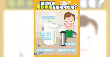 你家的「電熱水瓶」超吃電?台電教7撇步幫守緊荷包!