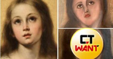 砸4萬修名畫!聖母瑪利亞淪「塑膠臉」顏值崩毀 二次修復更兩光