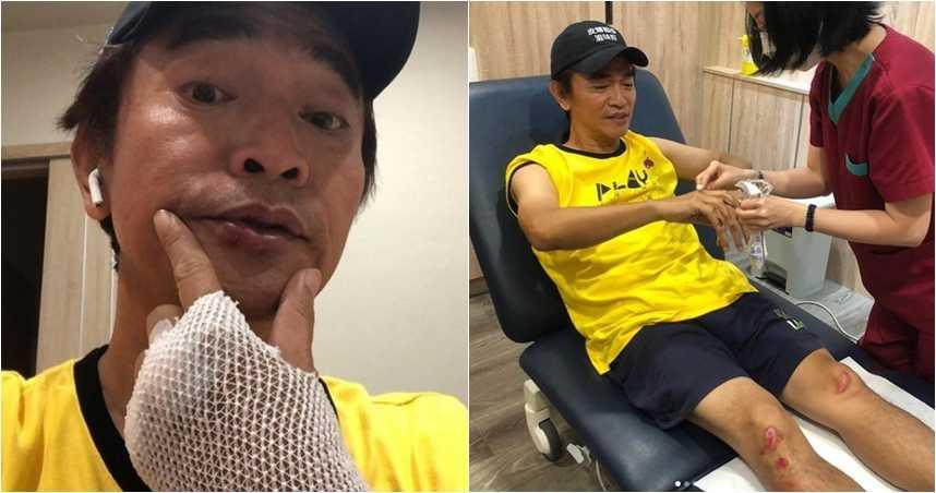 吳宗憲《玩很大》摔車「安全帽全碎」 甩飛磨地驚險7秒影片曝