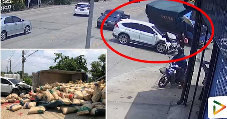 5分鐘遇3車禍 64歲婦遭傾覆貨車重壓亡
