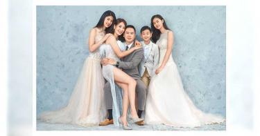 一家五口拍全家福 賈永婕為婚紗店做創「疫」行銷