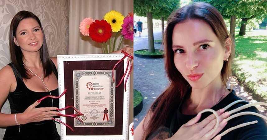 俄女6年留15公分指甲!「睡覺手綁床頭防斷裂」網驚:滿滿的細菌