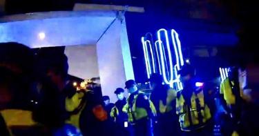 台中夜店糾紛頻傳 整排警察站崗防滋事