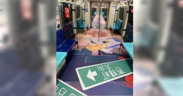 燈節專屬列車上路 燈節作品藏在彩繪中