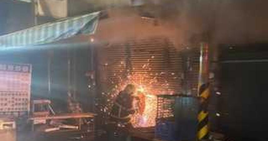雲林古坑連棟鐵皮屋發生大火 2警義消受傷送醫