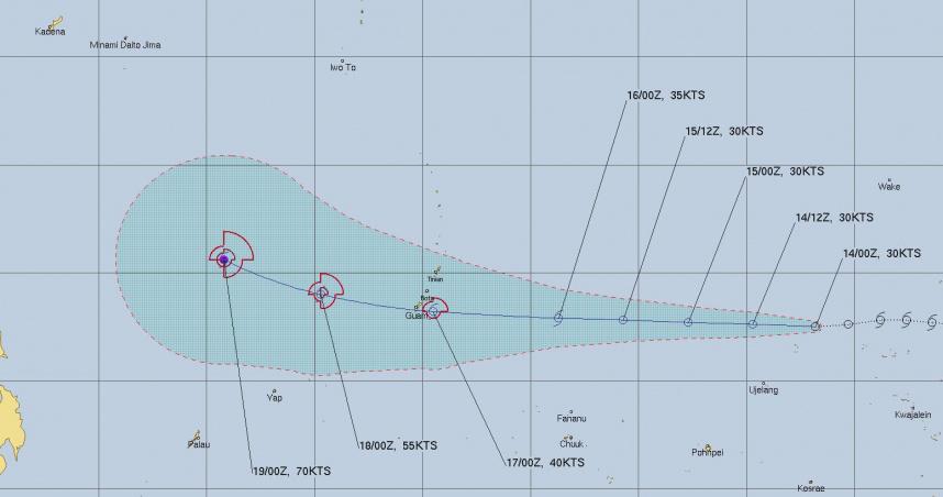熱帶低壓「恐增強為颱風」朝西前進!專家曝:最快下週末到台灣附近