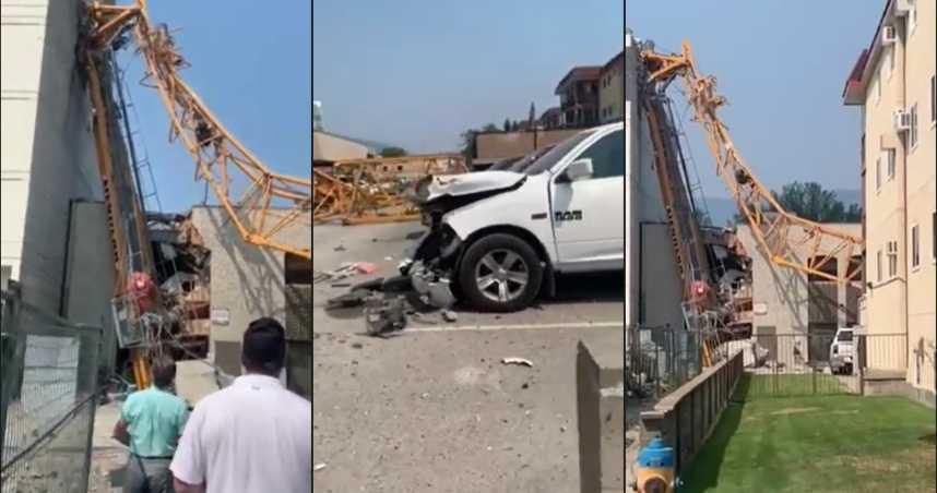 加拿大工地起重機斷成兩截 壓損建築物樓頂釀多人死亡