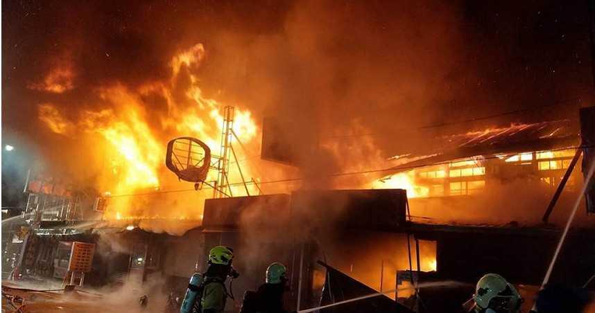 嘉義民雄娃娃機店驚傳大火 火勢延燒7戶無人受困