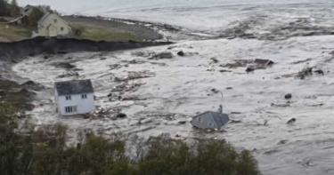 土石流發威!挪威疑震後「走山」 海濱城鎮 8棟民宅「滑」入大海