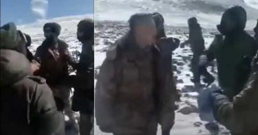 中印衝突新影片曝光!雙方士兵雪地「扭打成一團」 解放軍遭圍毆