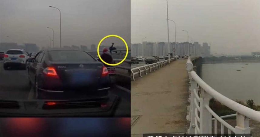 31歲男橋邊停車「翻越護欄跳江」!妻崩潰:才剛送完我上班