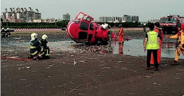 空勤總隊海豚直升機墜機意外 所幸機上5人都無傷亡