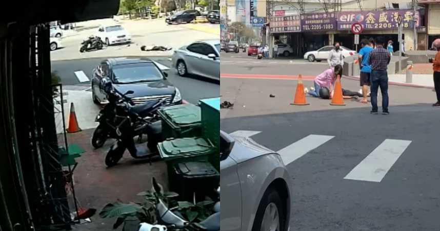20歲男遭左轉賓士狠撞!「後翻一圈」落地慘死 撞擊瞬間畫面曝光