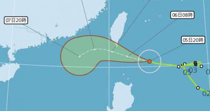 閃電颱風暴風圈擴大!氣象局發布陸警 3地區受威脅