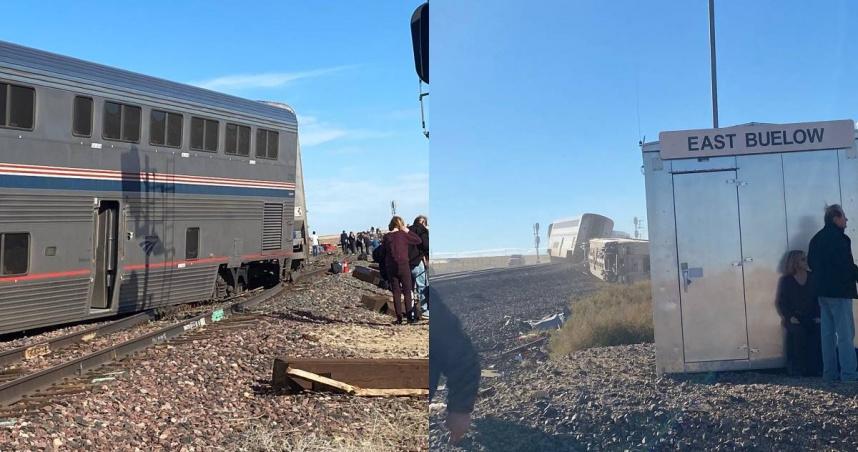 美國火車出軌!官方證實「車上有147名乘客」 死傷情況不明