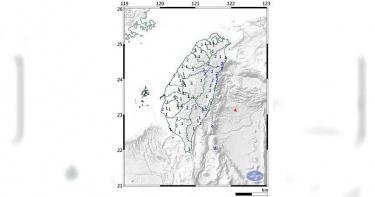台東又震!09:40發生規模5.4地震 最大震度3級