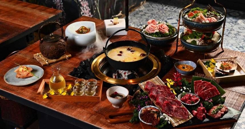 視覺系火鍋新創舉!推鍋物+燒肉12品套餐 仙氣意境好吃又好拍