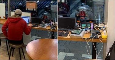把小七當你家?男自帶充電線坐超商…接電充「7樣3C」 網歪樓:原PO是《角頭》男星