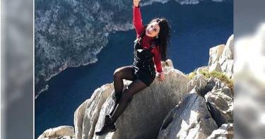 帥妞懸崖拍照「跌落山谷」 屍體被打撈…朋友哭回:她實現夢想了