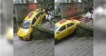 計程車司機秀「下樓梯」神技 網驚:根本雲霄飛車!