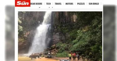 自拍美照突腳滑…女墜「42公尺高瀑布」友人急拉雙雙慘死
