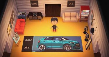 奧迪推「動森賞車會」 將A1 Sportback搬進遊戲裡