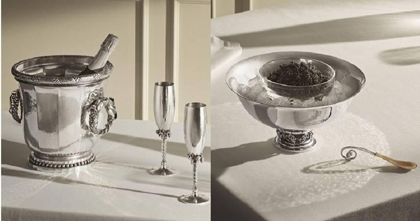 銀光品味儀式感!喬治傑生百年銀雕藝作、搭配年份香檳與魚子醬享用,開啟後疫情時代的華麗生活饗宴!