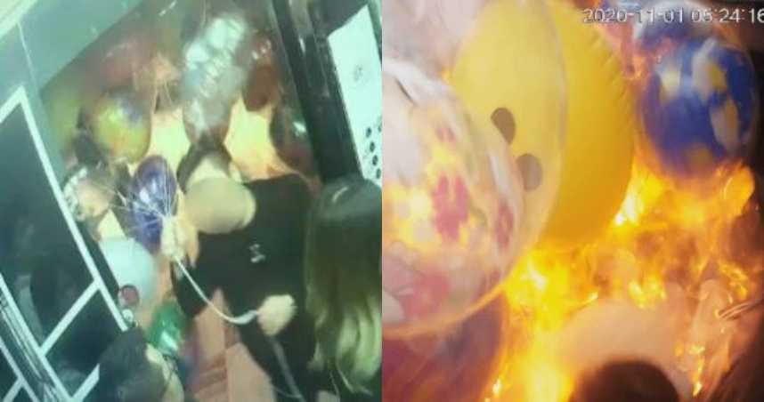 醉漢示好送氣球!他一舉動秒成「巨大火球」…嫩妹慘燒傷毀容