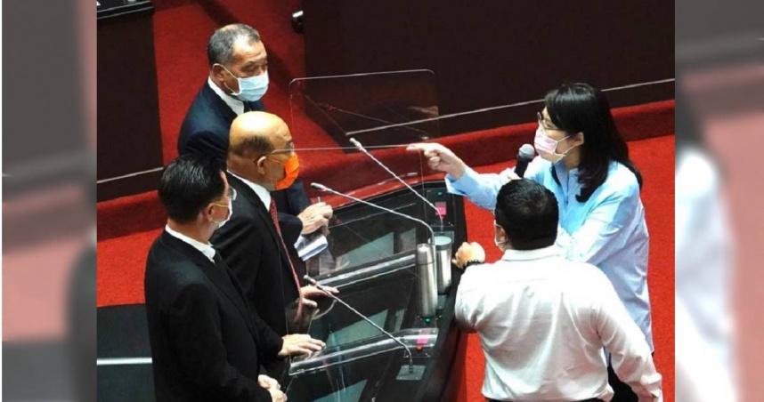 閣揆公然指女立委袂見笑 藍營問難道這就是總統的團結共識嗎