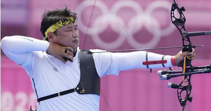 拉中華隊自拍展運動家精神 韓40歲射箭一哥帶傷奪金:能拉弓就很感恩