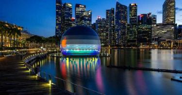 蘋果水上漂「海中專賣店」落角新加坡 果粉快去朝聖