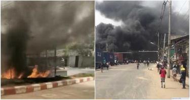 緬甸民眾瘋狂縱火!仰光20間中資廠遭殃 軍政府槍殺39人宣布戒嚴