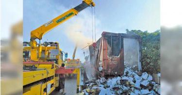2萬件隔離衣運送途中起火焚毀 防疫中心:不致對防疫產生影響