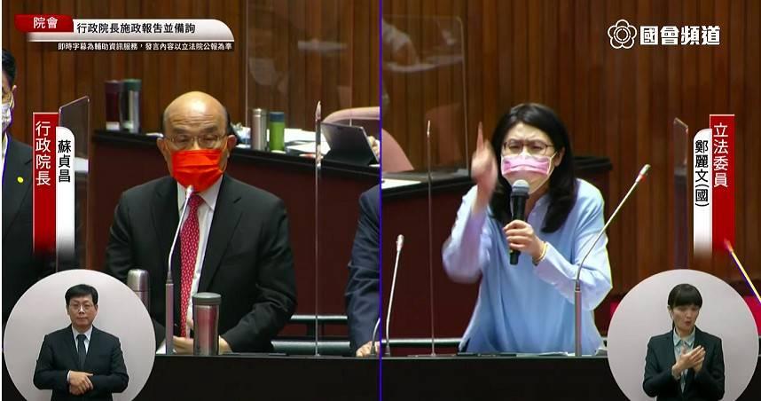 火爆質詢! 蘇揆嗆「不要臉」 鄭麗文衝備詢台要求道歉