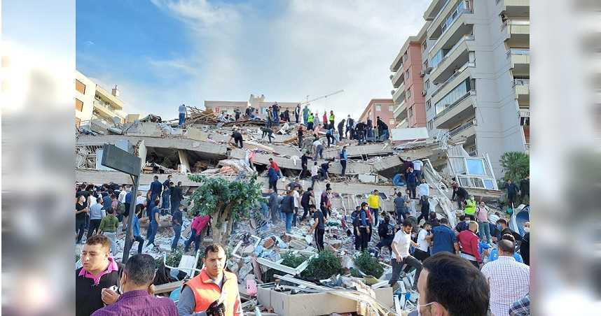 愛琴海7.0強震慘烈災情空拍圖曝光 釀至少21死779人傷