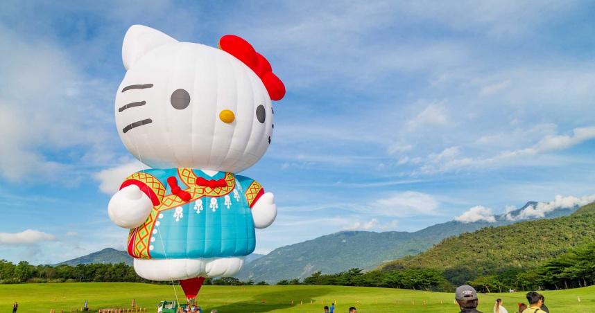 唯一Hello Kitty熱氣球 超萌造型現身鹿野高台
