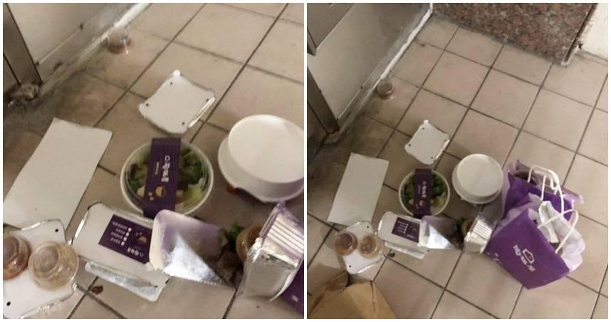 颱風天叫千元牛排…紙袋破「餐點噴掉」全毀 她怒公布外送員:不爽不要做