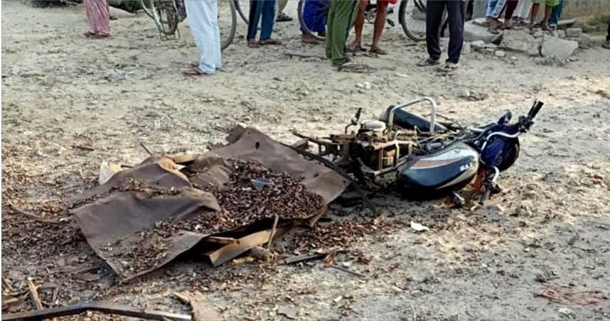 載火藥經不平道路引爆炸 送貨員被炸飛空中8公尺慘死