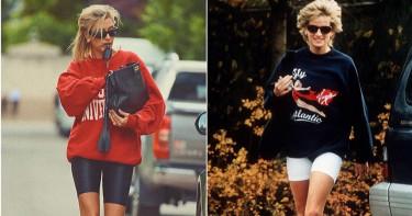 Hailey Bieber神還原! 為雜誌畫報復刻演繹黛安娜王妃私服穿搭,超有感