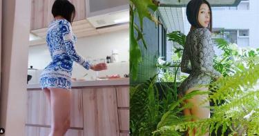 41歲美艷辣媽「穿真理褲下廚」 露出不科學正臉網暴動告白