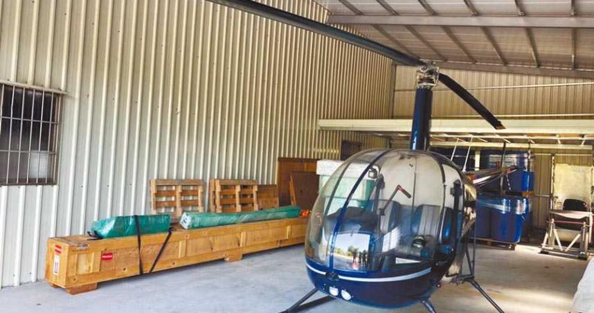 南投台商R22直升機疑違法飛行 檢警展開蒐證調查