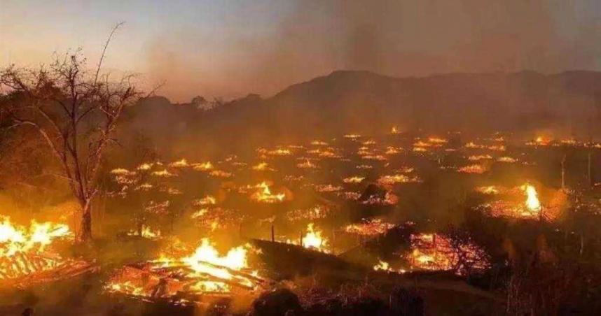 中國最後原始部落慘遭火蝕 雲南佤族翁丁村老寨幾乎燒光